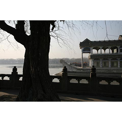 Beijing (China) and its region: the Emporor's marmor boat on the lake of the Summer Palace China photo Paul Maurer