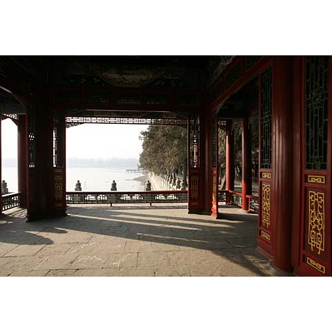 Beijing (China) and its region: view of the lake of the Summer Palace China photo Paul Maurer