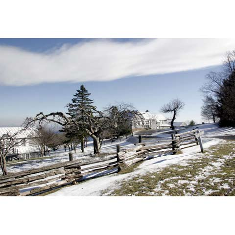 Snow landscape, Roaring Gap,North Carolina, USA, photo Paul Maurer