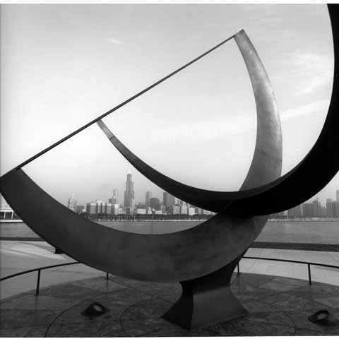 Travel to the States, Cleveland Ohio, street sculpture, photo Paul Maurer