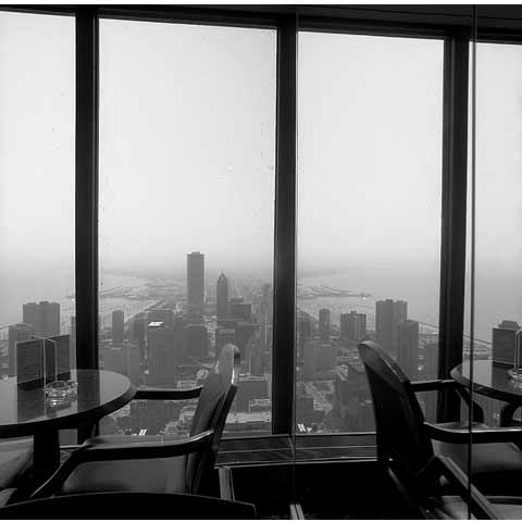 Travel to the States, Cleveland Ohio, general view of the town from a tower in downtown, photo Paul Maurer