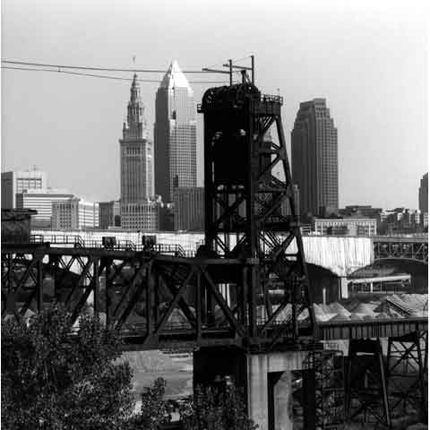 Travel to the States, Cleveland Ohio, the Flats, view towards downtown, photo Paul Maurer