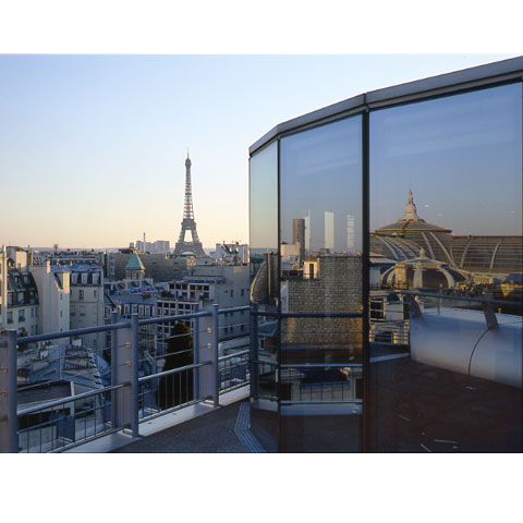 View of Paris from the famous building 50 Montaigne, Paris, France, photo Paul Maurer