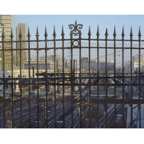 Fence of the train station in the Rive Gauche area in Paris, close to the new Grande Bibliothèque, photo Paul Maurer