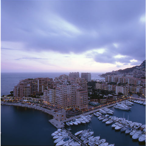 View of the Fontvieille area in Montecarlo, urbanist Olivier Vidal
