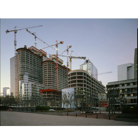 Construction site of the Coeur Defense, La Defense, architects Andrault et Parat, photo Paul Maurer