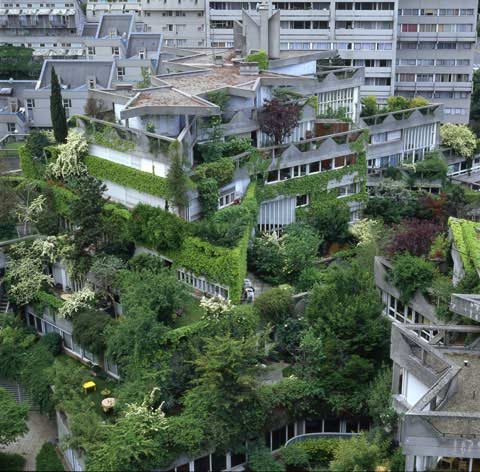 French architect Jean Renaudie has built this historical site in the 70's in Ivry sur Seine, photo Paul Maurer